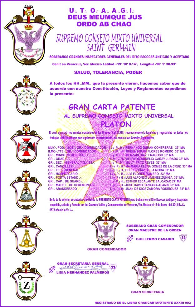 CARTA PATENTE DEL 33